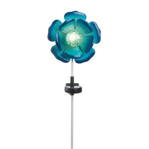 Solar Lighted Garden Stake – Blue Flower