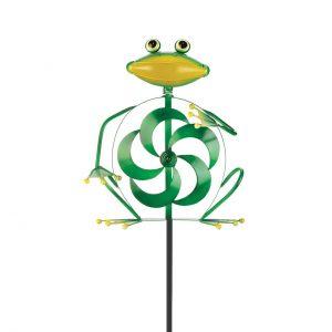 Frog Wind Spinner Yard Stake