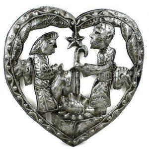 HEART NATIVITY WALL ART – CROIX DES BOUQUETS