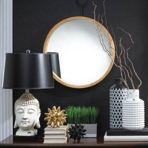 Black & White Buddha Table Lamp