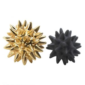 Gold and Black Spike Sculpture Set