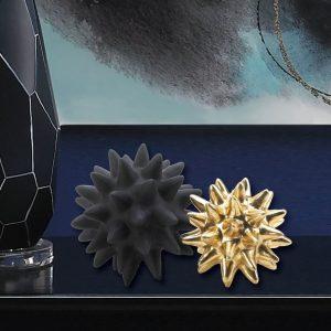 Black and Gold Spike Sculpture Set