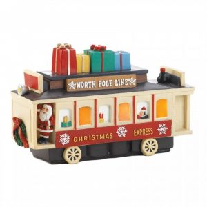 Light-Up Christmas Train Car Decor
