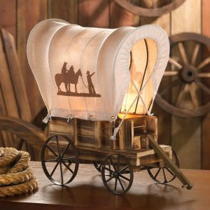 Covered Wagon Western-Style Table Lamp