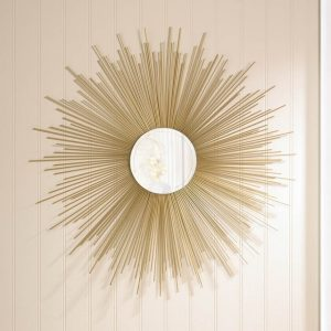 32-inch Golden Sunburst Wall Mirror