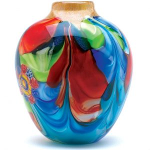 Handcrafted Art Glass Vase