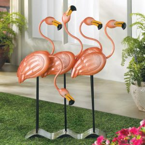 Flamingo Flock Lawn Ornament