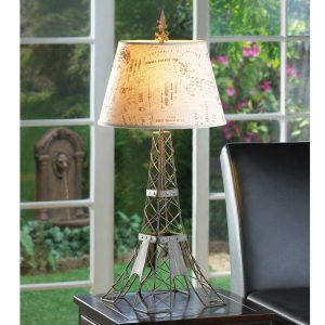 Eiffel Tower Wire Frame Table Lamp