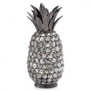 Pina Oja Cristal Black Nickel Pineapple