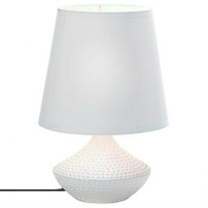 Dimpled Base White Ceramic Table Lamp