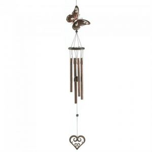 Butterfly and Heart Wind Chimes – 31.5 inches