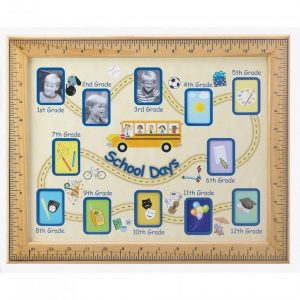 School Days Picture Frame with Ruler Border