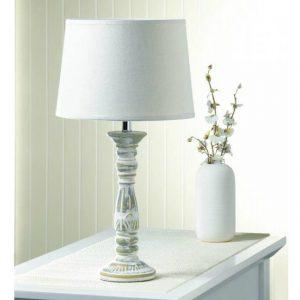 Ceramic Lamp with Timeworn-Look Weathered Base