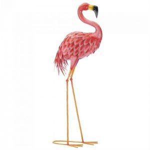 Bright Flamingo Yard Art – Looking Forward