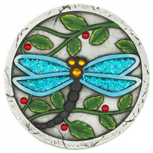Blue Dragonfly Cement Garden Stepping Stone