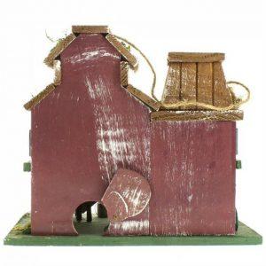 Feed and Grain Farmhouse Bird House