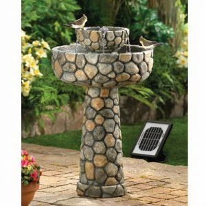 Stone-Look Water Fountain – Solar or Cord Power