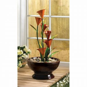 Calla Lily Cascading Water Fountain – 30 inches