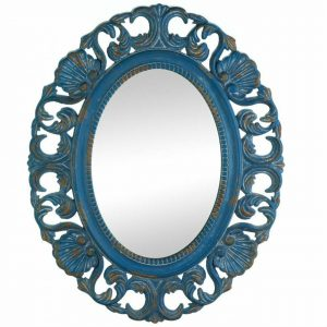 Seashells and Waves Distressed Blue Mirror