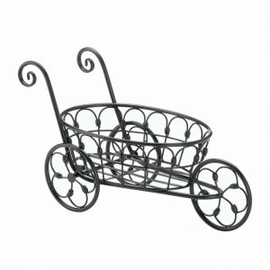 Black Iron Decorative Flower Cart