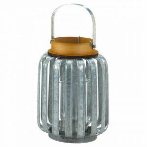 Galvanized Metal Slats Candle Lantern – 10.5