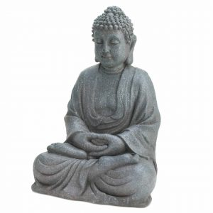 12-inch Fiberglass Buddha Statue