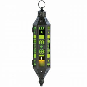 Bright Green Hanging Candle Lantern