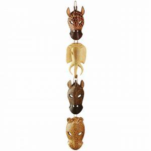 African Animal Masks Wall Hanging