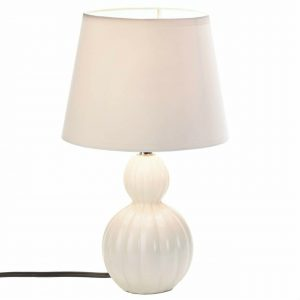 Charlotte Ivory Ceramic Compact Table Lamp