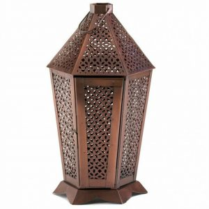 Exotic Hexagonal Candle Lantern – 13 inches