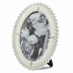 Oval Rhinestone Photo Frame – 4×6