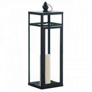 Black Geometric Lantern – 22.5 inches