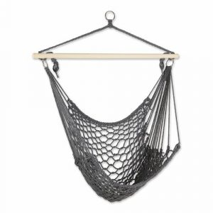 Recycled Cotton Swinging Hammock Chair – Gray
