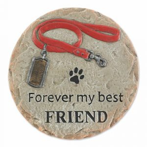 Pet Memorial Stepping Stone – Forever My Best Friend